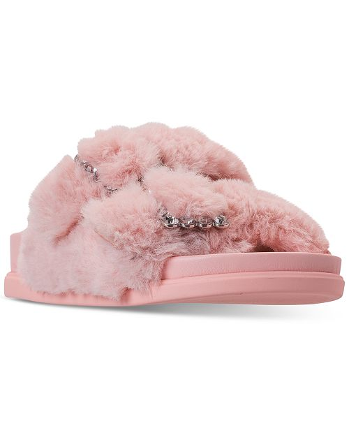 3b90cf3ca41 ... Steve Madden Little Girls JFancy Faux Fur Slide Sandals from Finish  Line ...