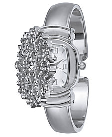 Charter Club Women's Silver-Tone Snowflake Bracelet Watch 32mm, Created for Macy's