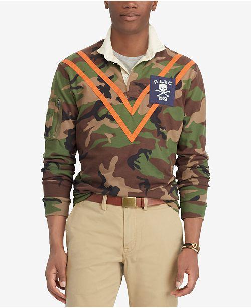 Men's Fit Ralph Lauren Rugby Camouflage Classic Polo Shirt waP8qUq
