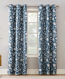 Sun Zero Jorah Thermal Insulated Botanical Print Curtain Collection