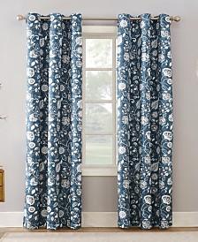 Sun Zero Jorah Thermal Insulated Botanical Print Curtain Collection