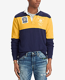 Polo Ralph Lauren Men's Classic-Fit Jersey Rugby Patch Polo Shirt