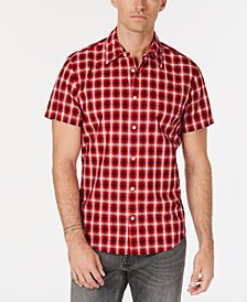 Calvin Klein Jeans Men's Short-Sleeve Plaid Shirt