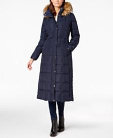 b37e8bf38c050 Tommy Hilfiger Faux-Fur-Trim Maxi Puffer Coat