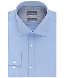 Michael Kors Men's Classic/Regular Fit Non-Iron Airsoft Stretch Performance Solid Dress Shirt
