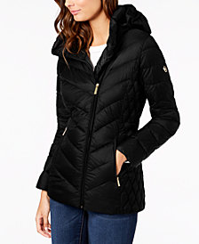 MICHAEL Michael Kors Petite Hooded Quilted Packable Puffer Coat