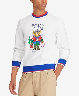 Polo Ralph Lauren Mens Hi Tech Bear Sweatshirt Casual Button Down