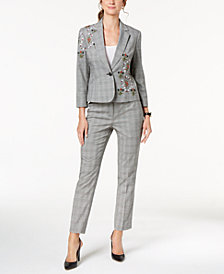 Nine West Embroidered Jacket & Skinny Pants
