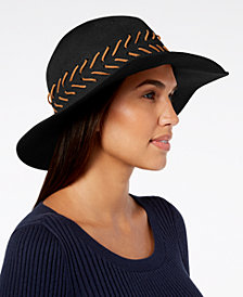 I.N.C. Packable Whipstitched Solid Panama Hat, Created for Macy's