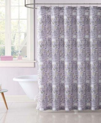 Kids Unicorn Princess Printed Shower Curtain