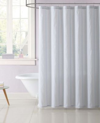 Kids Gingham Shower Curtain