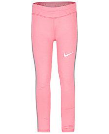 Nike Little Girls Dri-FIT Mesh-Panel Leggings