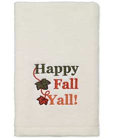 LAST ACT! Avanti Happy Fall Yall Cotton Embroidered Hand Towel