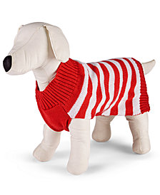 Matching Family Pajamas Holiday Stripe Pet Sweater Created for Macy's