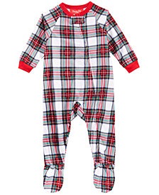 Matching Family Pajamas Infant Stewart Plaid Footed Pajamas, Created for Macy's
