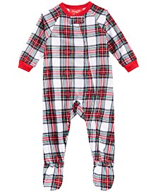 Matching Family Pajamas Baby Stewart Plaid Footed Pajamas, Created For Macy's