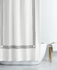 "LAST ACT! Hotel Collection Greek Key Embroidered 72"" x 72"" Shower Curtain, Created for Macy's"