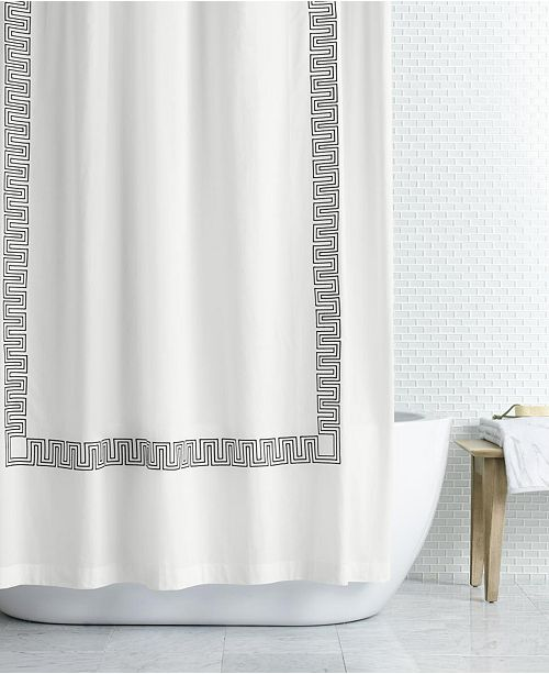 "Hotel Collection LAST ACT! Greek Key Embroidered 72"" x 72"" Shower Curtain, Created for Macy's"