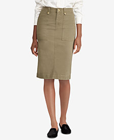 Lauren Ralph Lauren Stretch Chino Skirt