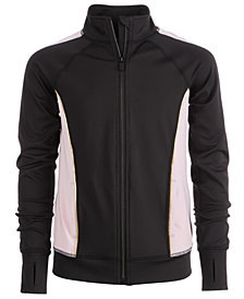 Ideology Big Girls Plus Inset Full-Zip Jacket, Created for Macy's
