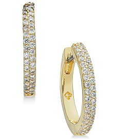 Kate Spade New York  Pavé Huggie Hoop Earrings