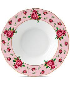Royal Albert New Country Roses Pink Vintage Rim Soup/Salad Bowl