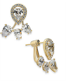 Danori Crystal Front-and-Back Earrings, Created for Macy's