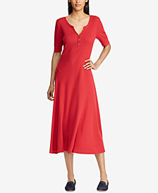 Lauren Ralph Lauren Fit & Flare Cotton Dress