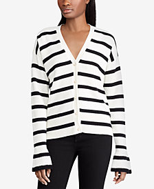 Lauren Ralph Lauren Striped Cotton Cardigan