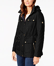 MICHAEL Michael Kors Hooded Quilted Anorak Coat