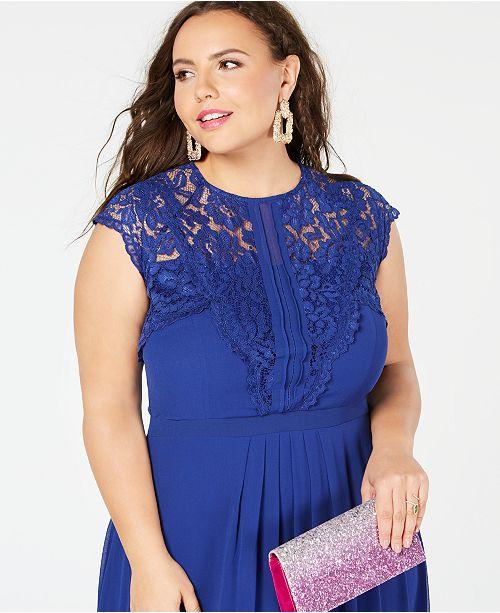 6693568365cc35 City Chic Trendy Plus Size Lace-Trim Maxi Dress & Reviews - Dresses ...