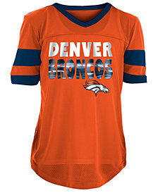 5th & Ocean Denver Broncos Foil Football Jersey, Girls (4-16)