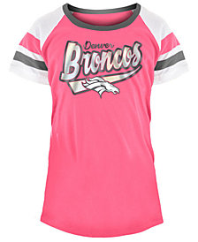 5th & Ocean Denver Broncos Pink Foil T-Shirt, Girls (4-16)