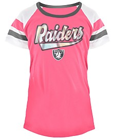 5th & Ocean Oakland Raiders Pink Foil T-Shirt, Girls (4-16)
