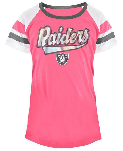 super popular a80bd 9b235 5th & Ocean Oakland Raiders Pink Foil T-Shirt, Girls (4-16 ...