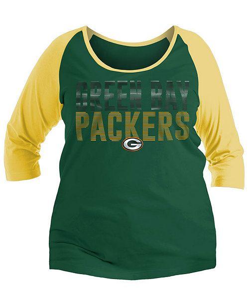 1da77164 5th & Ocean Women's Green Bay Packers Plus Size Colorblock ...
