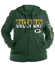 5th & Ocean Women's Green Bay Packers Plus Glitter Block Hoodie