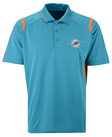Antigua Men's Miami Dolphins Merit Polo