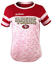 5th & Ocean San Francisco 49ers Space Dye Glitter T-Shirt, Girls (4-16)