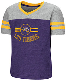 Colosseum LSU Tigers Pee Wee Football T-Shirt, Toddler Girls (2T-4T)