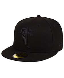 Atlanta Falcons Black on Black 59FIFTY FITTED Cap