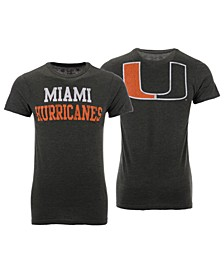 Men's Miami Hurricanes Team Stacked Dual Blend T-Shirt