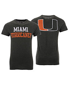 Retro Brand Men's Miami Hurricanes Team Stacked Dual Blend T-Shirt
