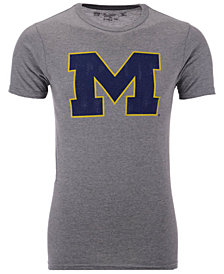 Retro Brand Men's Michigan Wolverines Alt Logo Dual Blend T-Shirt