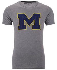 Retro Brand Men's Michigan Wolverines Alt Logo Dual Blend T-Shirt