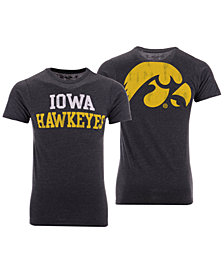 Retro Brand Men's Iowa Hawkeyes Team Stacked Dual Blend T-Shirt