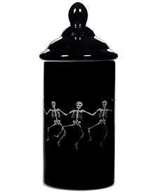 Home Essentials Tall Glass Skeleton Vase With Lid