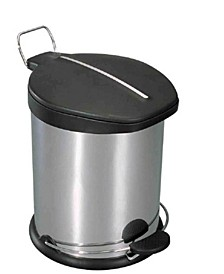 5 Liter Brushed Stainless Steel  with Plastic Top Waste Bin