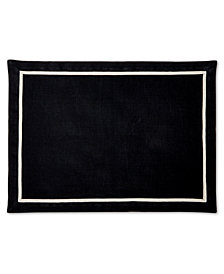 Hotel Collection Black Placemat with Natural