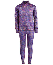 Ideology Big Girls Foil Spacedye Jacket & Leggings, Created for Macy's